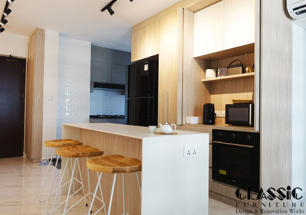 Kitchen renovation by Classic Furniture Singapore